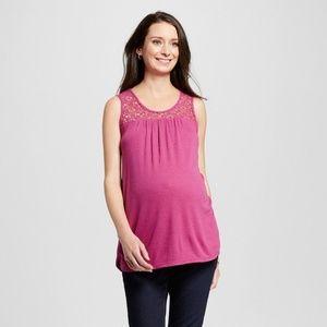 Liz Lange for Target Tops - New Women Crochet Tank Tops Vivacious Fuchsia S